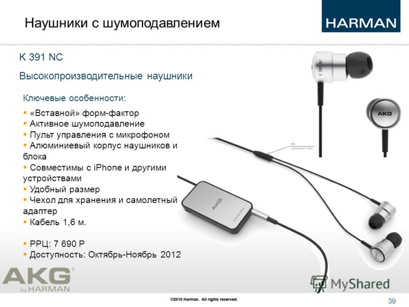38 AKG K391 NC In-Ear Headphones.