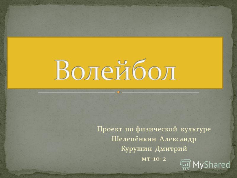 Проект по физической культуре Шелепёнкин Александр Курушин Дмитрий мт-10-2