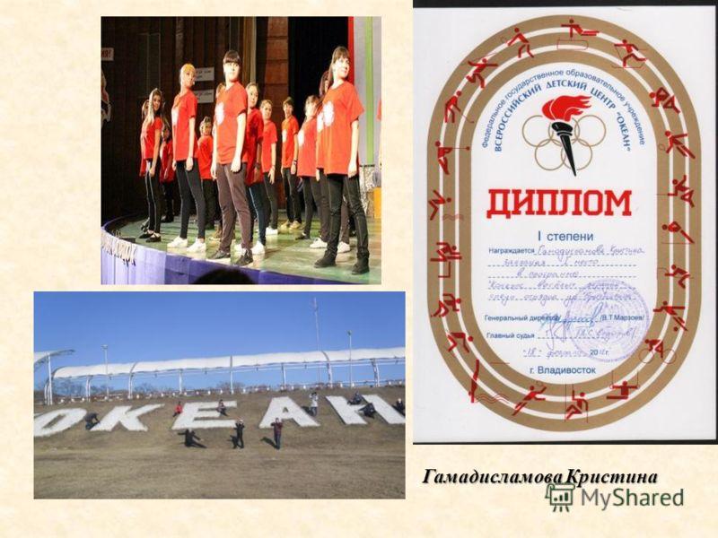 Гамадисламова Кристина