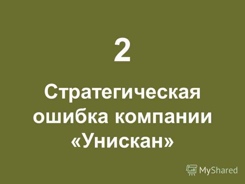 Разработка новых марок и новых продуктов 26 2 Стратегическая ошибка компании «Унискан»