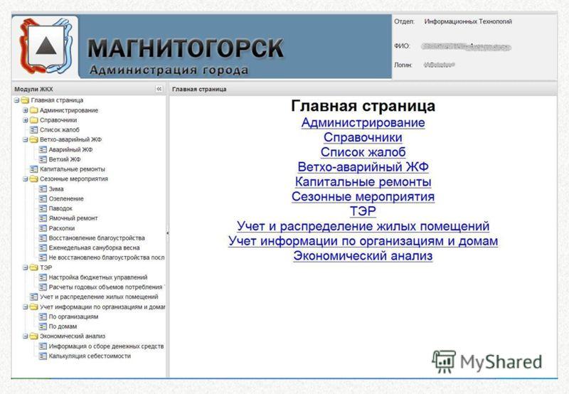 3 Администрация города Магнитогорска Администрация города Магнитогорска