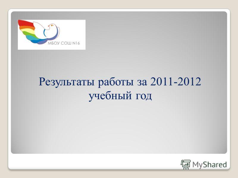 Результаты работы за 2011-2012 учебный год