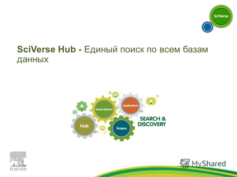 SciVerse Hub - Единый поиск по всем базам данных