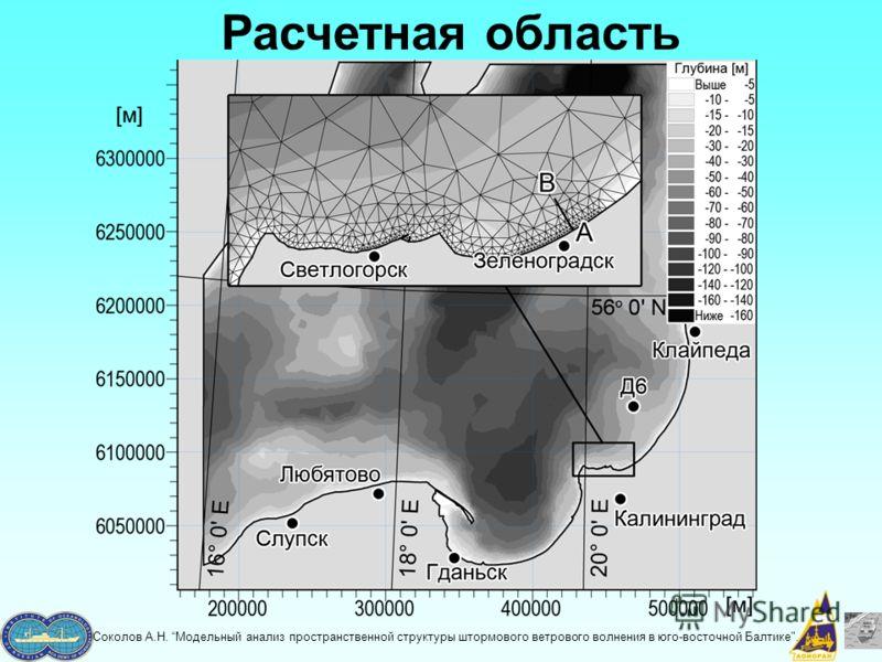 Соколов А.Н. Модельный анализ пространственной структуры штормового ветрового волнения в юго-восточной Балтике. Расчетная область
