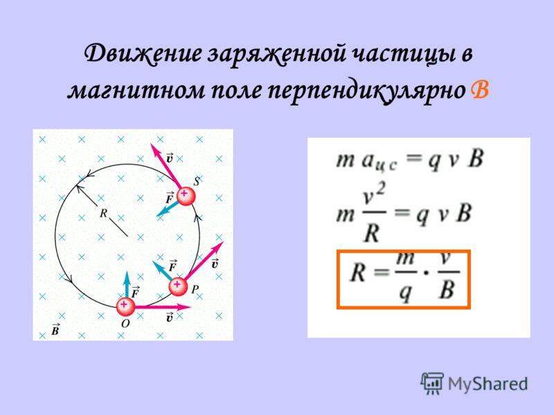 Движение заряженной частицы в магнитном поле перпендикулярно B