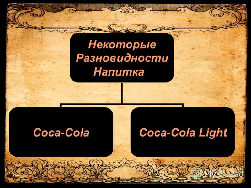 Некоторые Разновидности Напитка Coca-ColaCoca-Cola Light