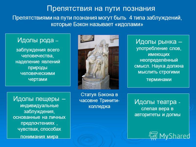 Идолы рода - заблуждения всего человечества, наделение явлений природы человеческими чертами