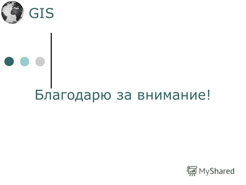 GIS Благодарю за внимание!