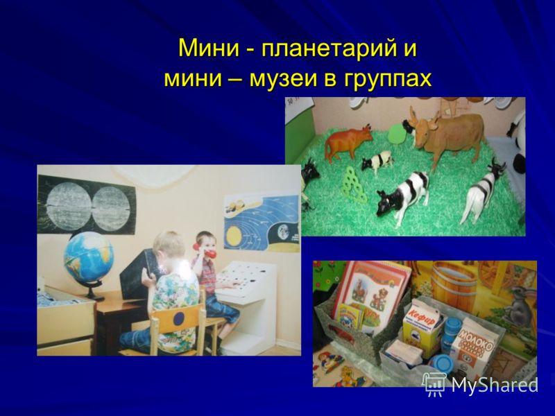 Мини - планетарий и мини – музеи в группах