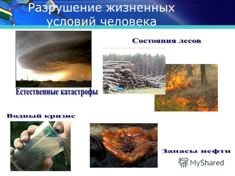 www.themegallery.com Разрушение жизненных условий человека