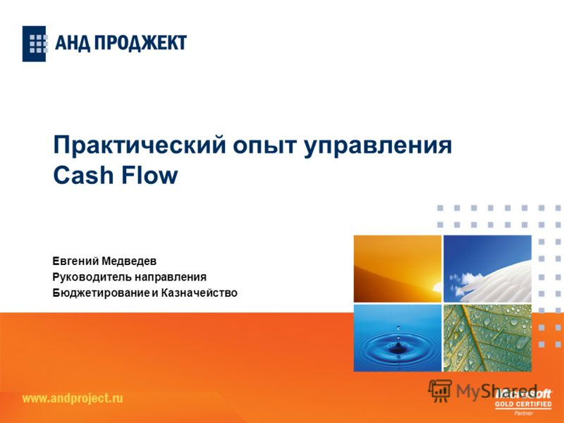 Практический опыт управления Cash Flow Евгений Медведев Руководитель направления Бюджетирование и Казначейство