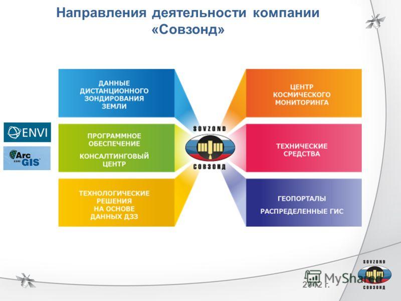 2012 г. Направления деятельности компании «Совзонд»