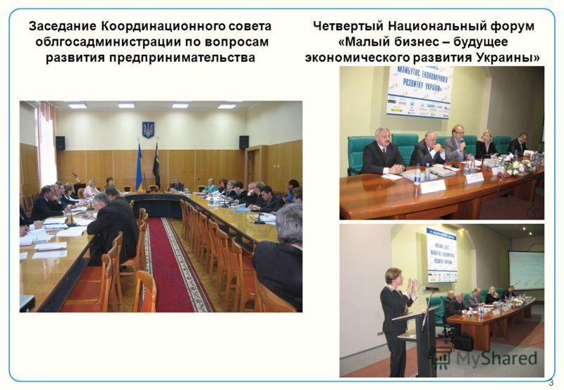Четвертый Национальный форум «Малый бизнес – будущее экономического развития Украины» Заседание Координационного совета облгосадминистрации по вопросам развития предпринимательства 3