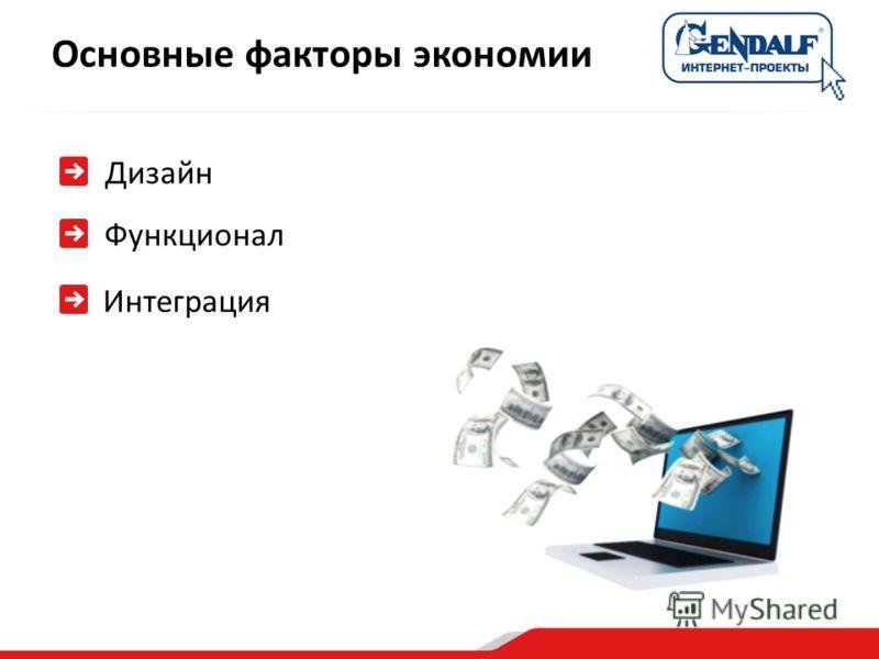 Дизайн Функционал Интеграция Основные факторы экономии