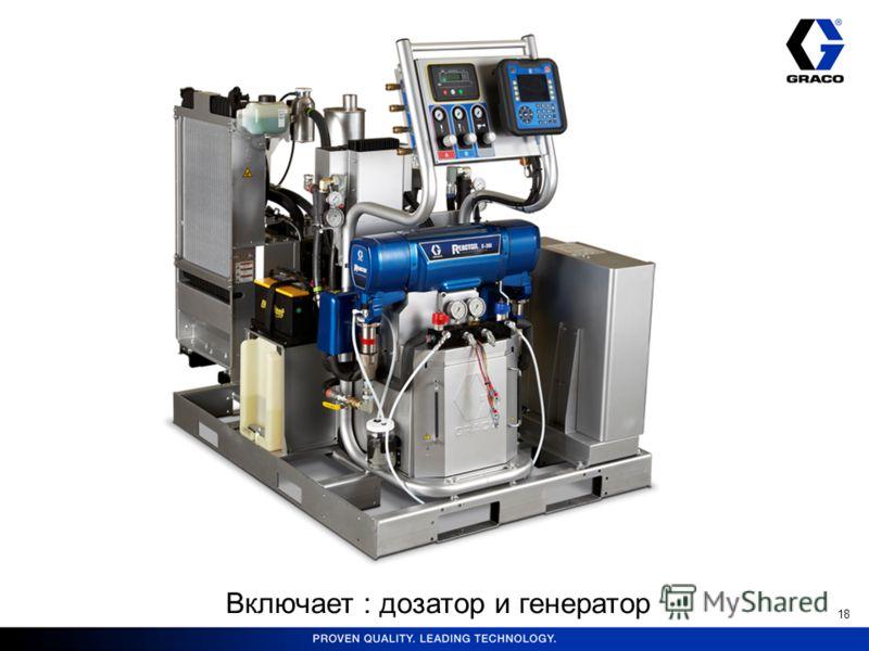 18 Включает : дозатор и генератор