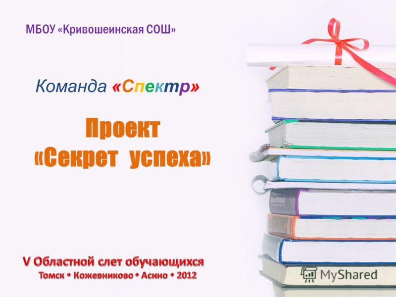 Проект «Секрет успеха» МБОУ «Кривошеинская СОШ» Команда «Спектр»