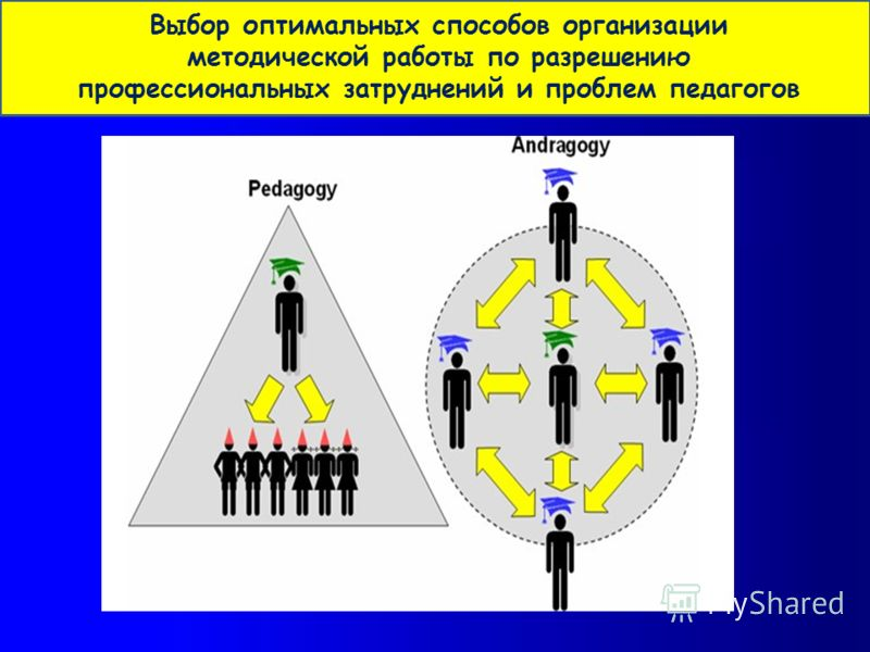 Выбор оптимальных способов организации методической работы по разрешению профессиональных затруднений и проблем педагогов