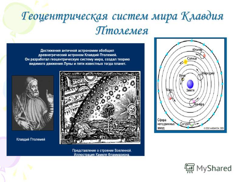 Геоцентрическая систем мира Клавдия Птолемея