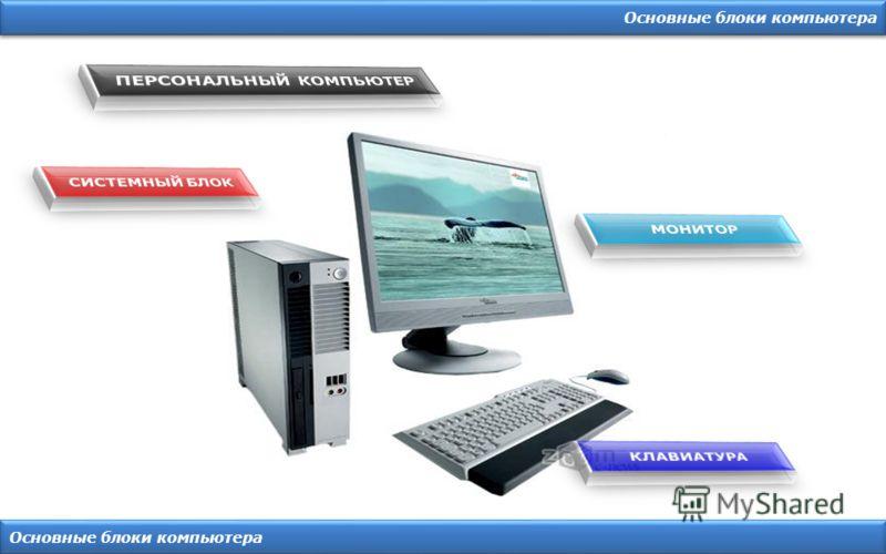 Основные блоки компьютера