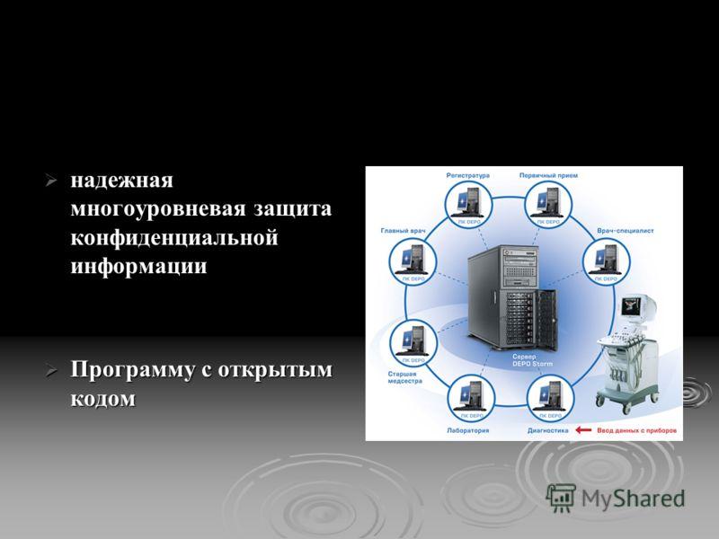 надежная многоуровневая защита конфиденциальной информации надежная многоуровневая защита конфиденциальной информации Программу с открытым кодом Программу с открытым кодом