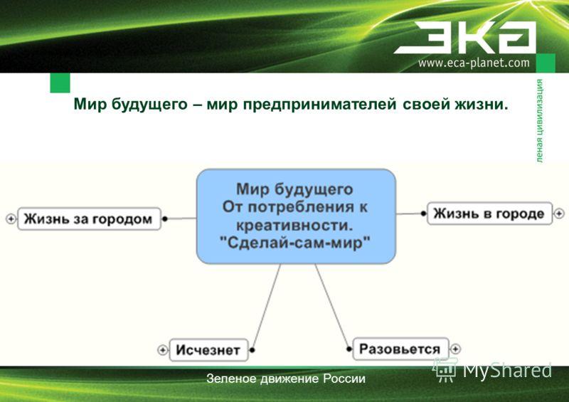 Мир будущего – мир предпринимателей своей жизни. Зеленое движение России