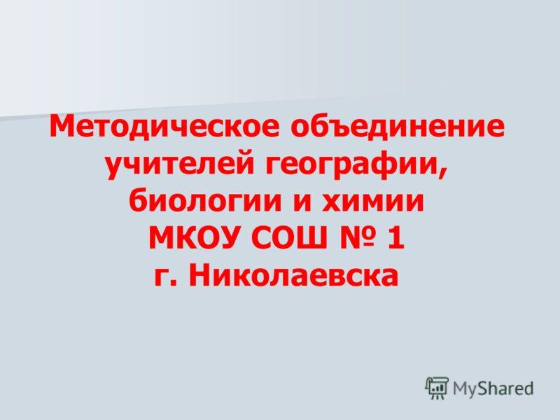 Методическое объединение учителей географии, биологии и химии МКОУ СОШ 1 г. Николаевска