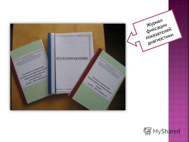 Журнал фиксации показателей диагностики