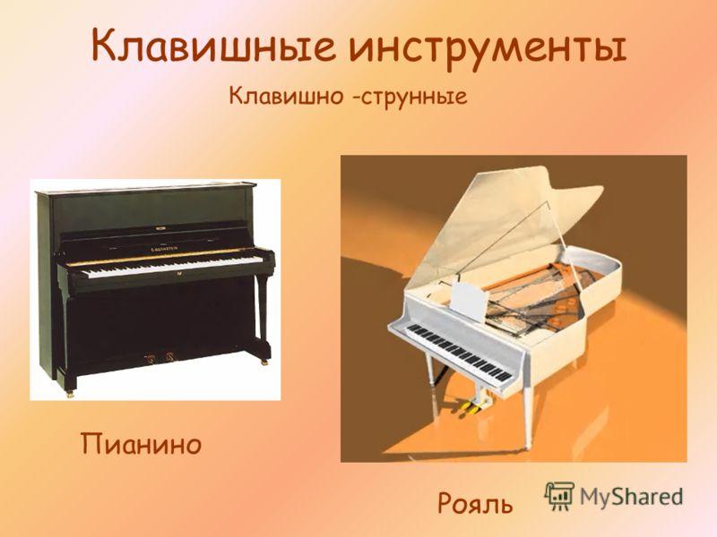Клавишные инструменты Рояль Пианино Клавишно -струнные
