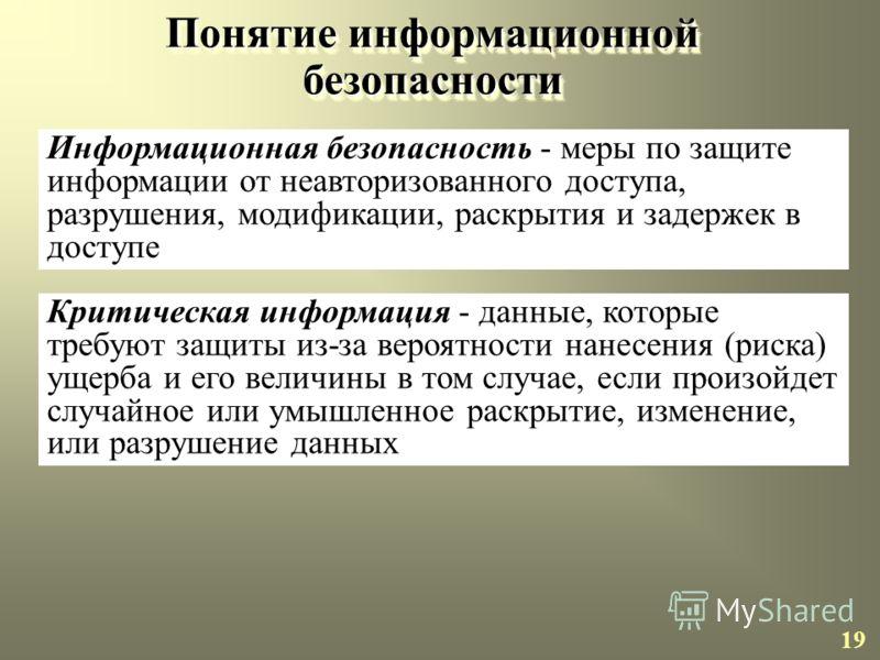 ОСНОВЫ ИНФОРМАЦИОННОЙ БЕЗОПАСНОСТИ ОРГАНИЗАЦИИ 18