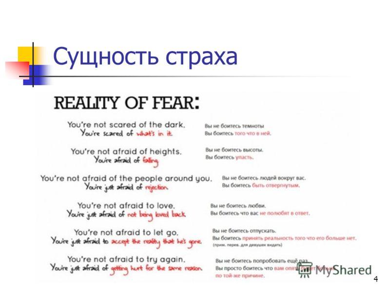 4 Сущность страха