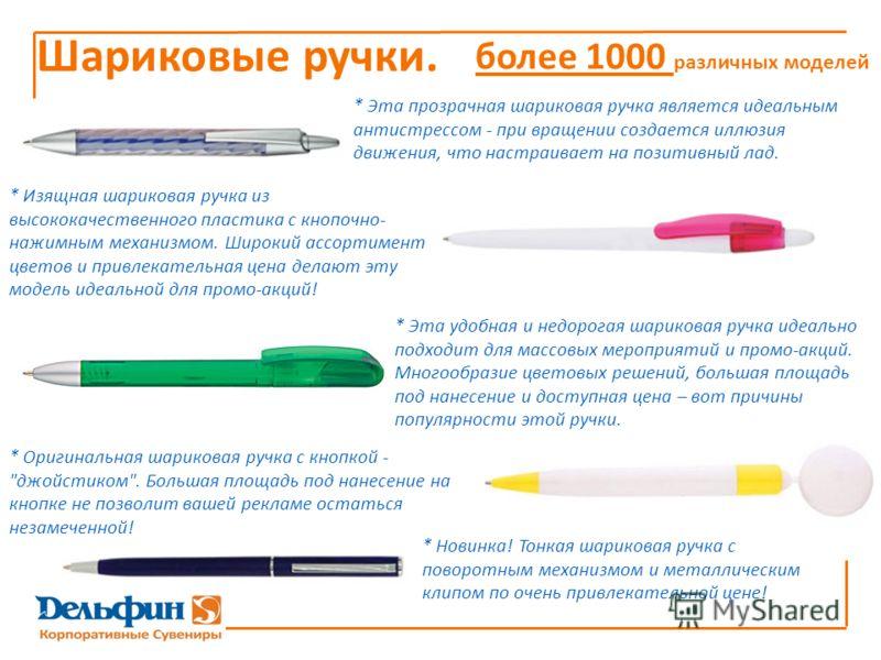 * Оригинальная шариковая ручка с кнопкой -