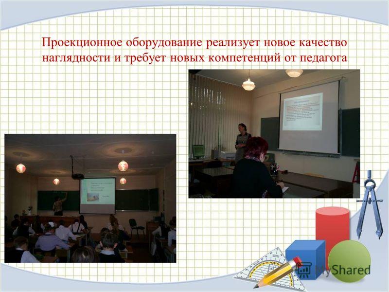 Проекционное оборудование реализует новое качество наглядности и требует новых компетенций от педагога