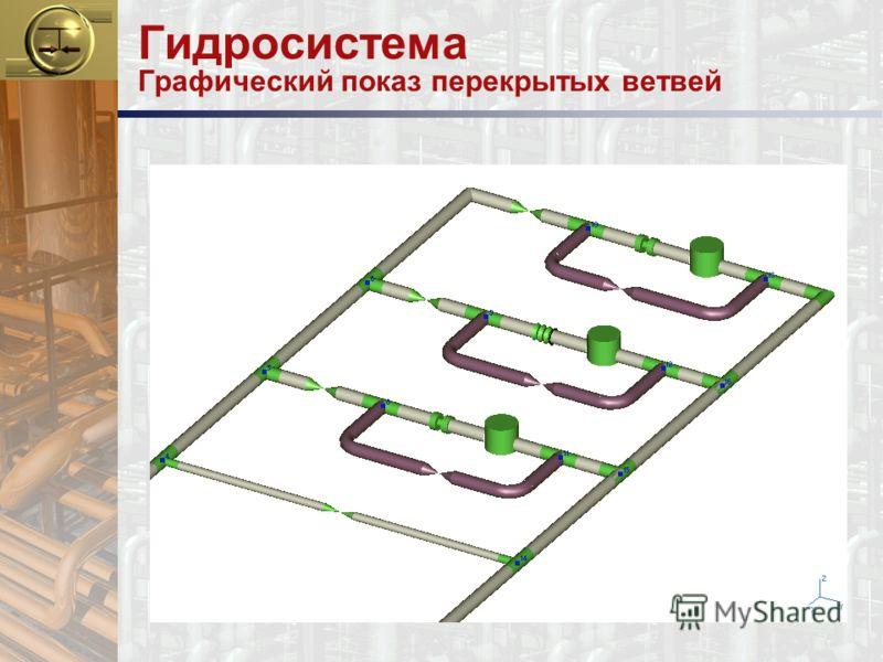 Гидросистема Графический показ перекрытых ветвей