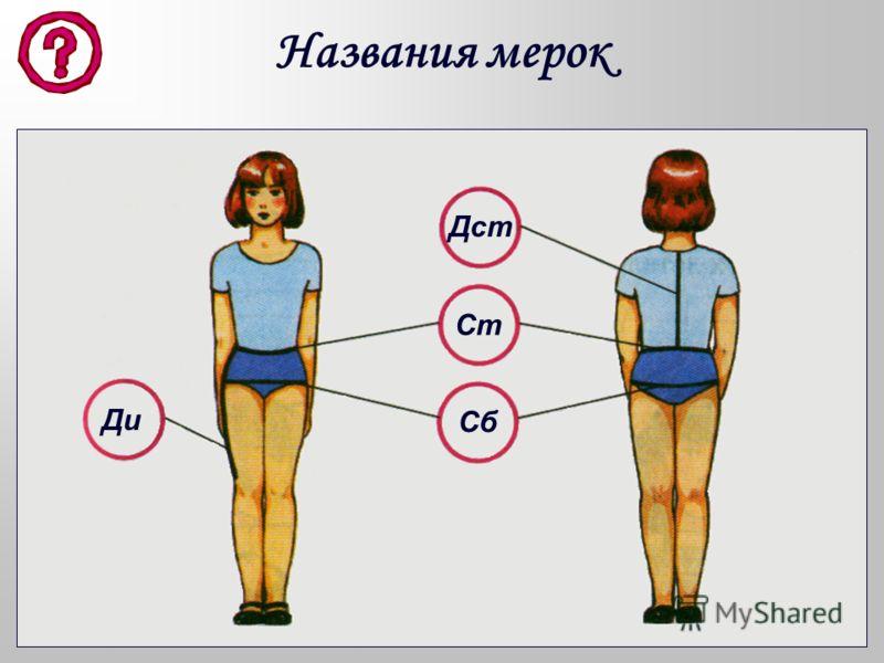 Для того, чтобы построить чертёж юбки, нужно правильно снять мерки. При снятии мерок фигура должна быть в естественном состоянии (не сгибаться и не напрягаться) и без верхнего платья. Мерки, необходимые для построения чертежа юбки: –Ст – полуобхват т
