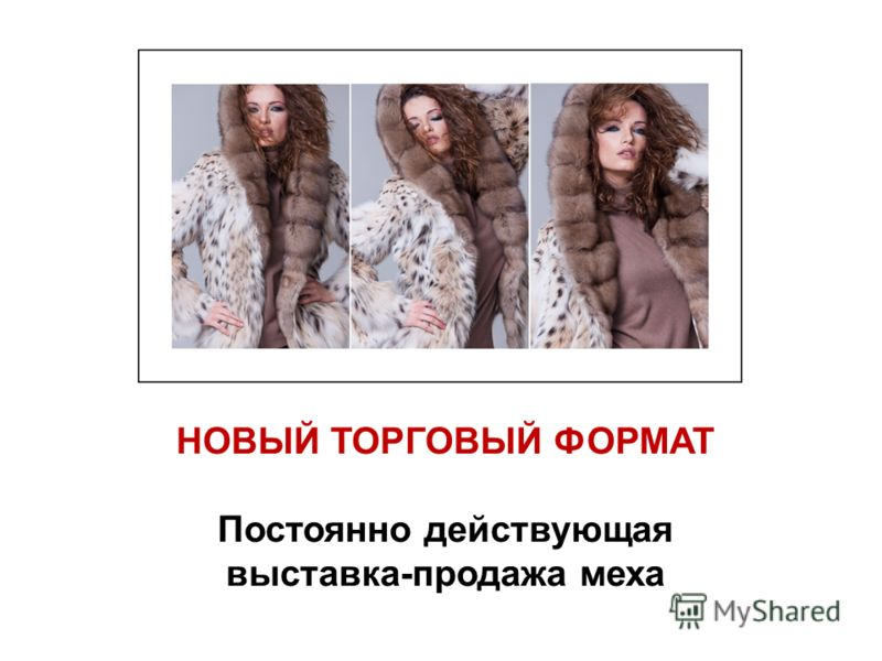 НОВЫЙ ТОРГОВЫЙ ФОРМАТ Постоянно действующая выставка-продажа меха