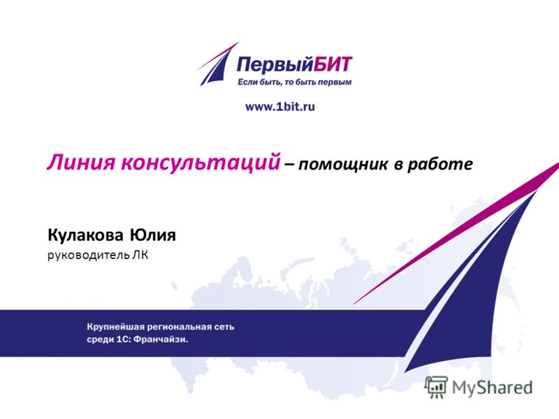 Линия консультаций – помощник в работе Кулакова Юлия руководитель ЛК