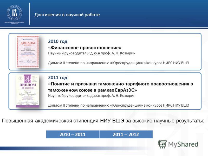 А. Н. Козырин Диплом II