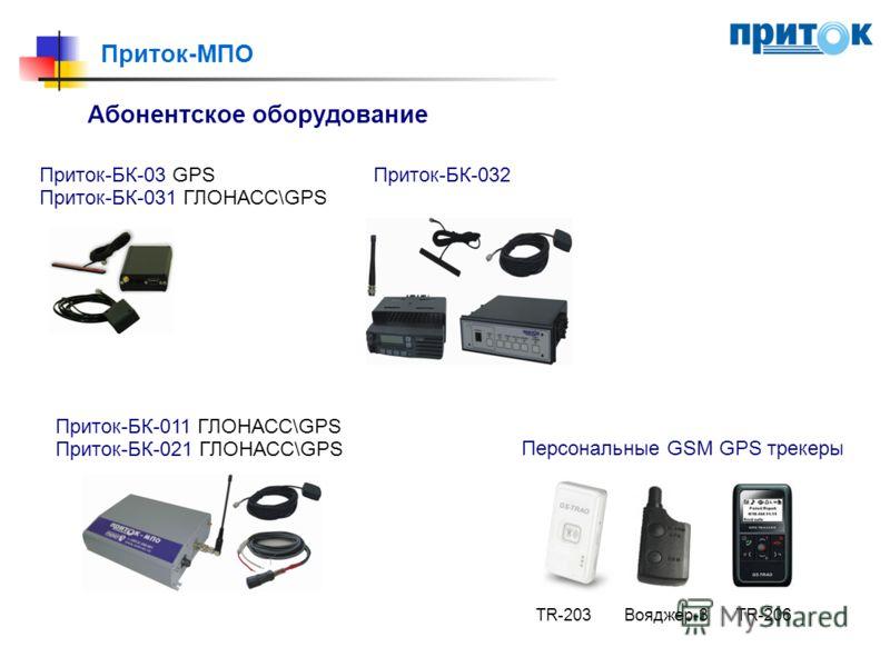Приток-МПО Абонентское оборудование Приток-БК-03 GPS Приток-БК-031 ГЛОНАСС\GPS Приток-БК-032 Приток-БК-011 ГЛОНАСС\GPS Приток-БК-021 ГЛОНАСС\GPS Персональные GSM GPS трекеры TR-203Вояджер-3TR-206