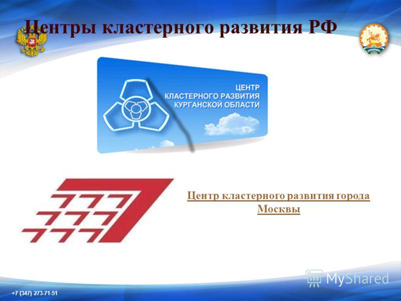 +7 (347) 273-71-51 Центры кластерного развития РФ Центр кластерного развития города Москвы