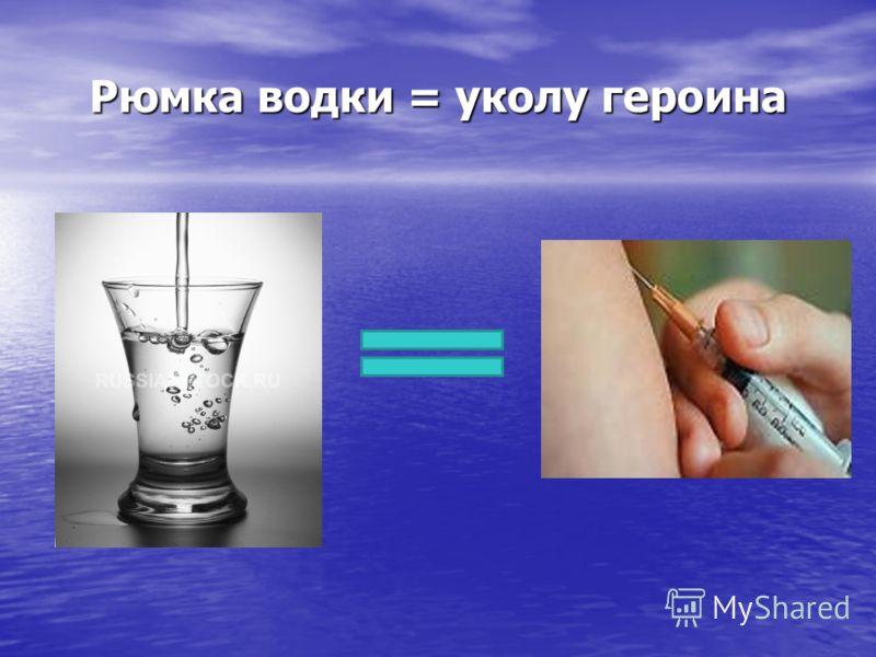 Рюмка водки = уколу героина