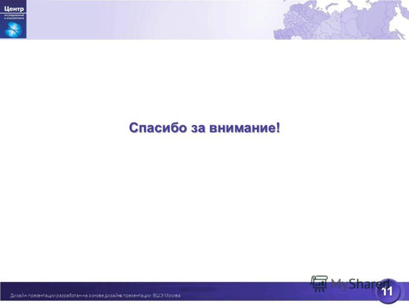 11 [ Спасибо за внимание! Дизайн презентации разработан на основе дизайна презентации ВШЭ Москва