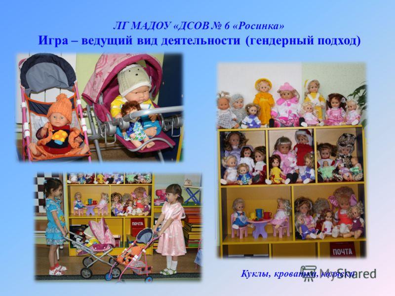 ЛГ МАДОУ «ДСОВ 6 «Росинка» Игра – ведущий вид деятельности (гендерный подход) Куклы, кроватки, коляски