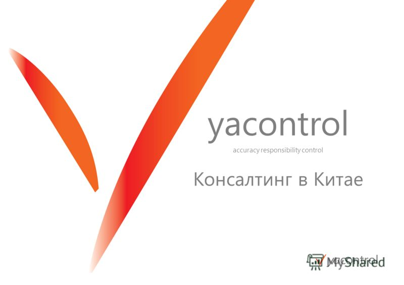 yacontrol accuracy responsibility control Консалтинг в Китае