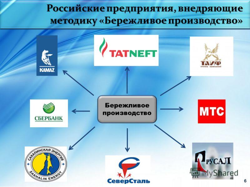 6 Российские предприятия, внедряющие методику «Бережливое производство»