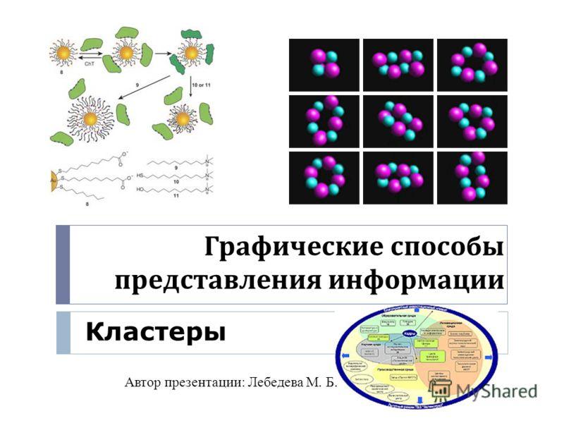 Графические способы представления информации Кластеры Автор презентации: Лебедева М. Б.