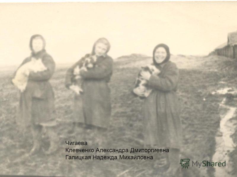 Чигаева Клевченко Александра Дмиторгиевна Галицкая Надежда Михайловна