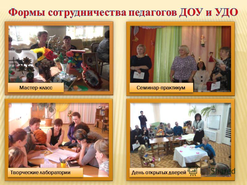 Мастер-класс Семинар-практикум Творческие лаборатории День открытых дверей