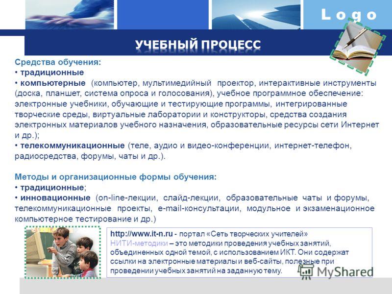 L o g o http://www.it-n.ru - портал «Сеть творческих учителей» НИТИ-методики – это методики проведения учебных занятий, объединенных одной темой, с использованием ИКТ. Они содержат ссылки на электронные материалы и веб-сайты, полезные при проведении