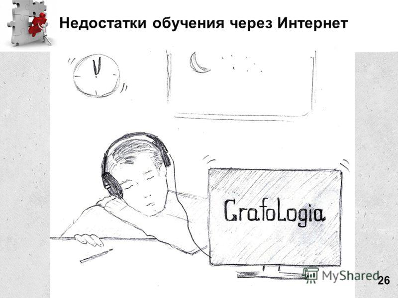 Недостатки обучения через Интернет 26