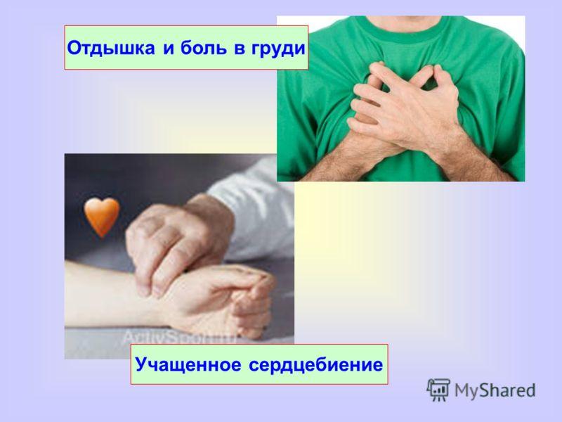 Учащенное сердцебиение Отдышка и боль в груди